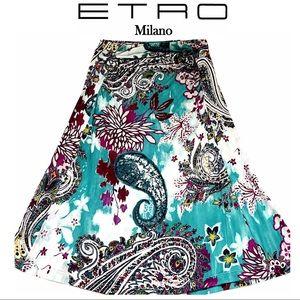 ETRO Print Skirt Euro Sz 38/US 2